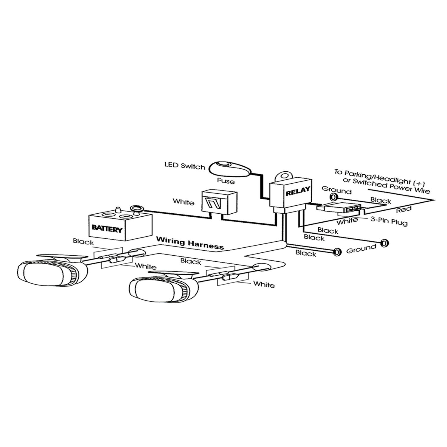anzo light bar wiring diagram 2004 chevy silverado radio harness usa 851062 12v auxiliary kit autoplicity