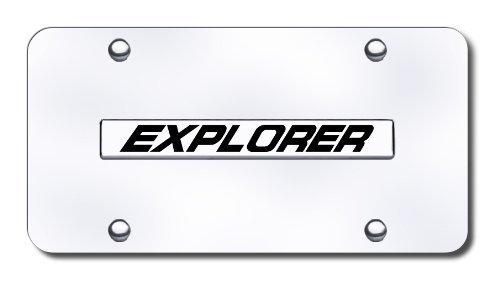 Auto Gold Xplncc Chrome On Chrome License Name Plate