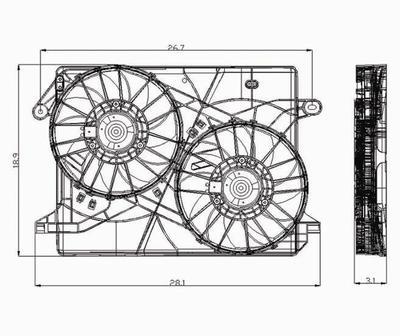 TYC 621160 Chrysler/Dodge Replacement Radiator/Condenser