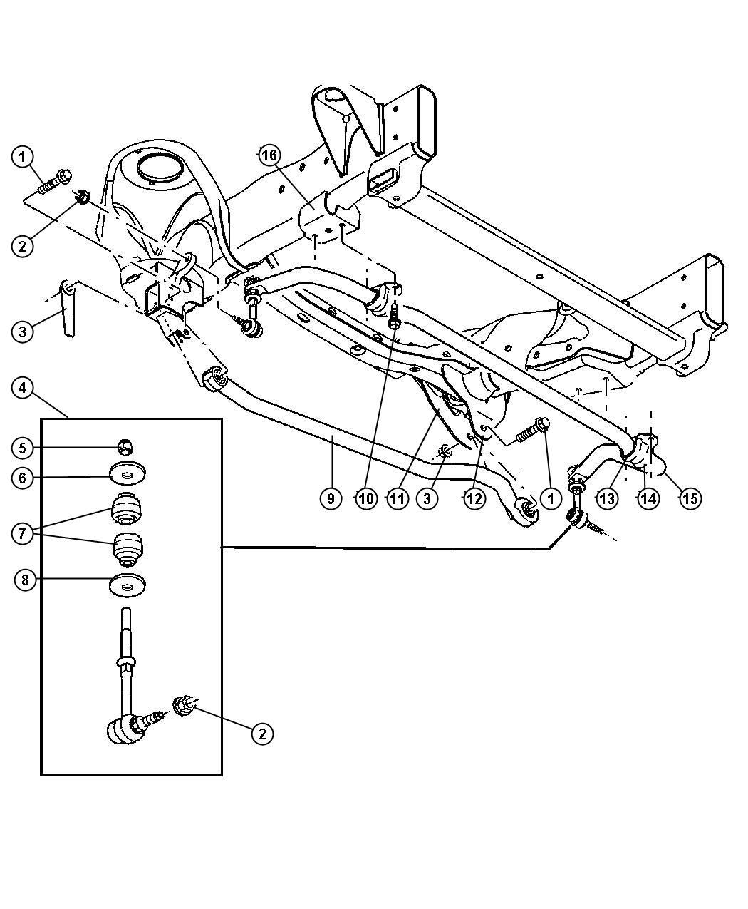 Mopar Performance 68001734AB MOPAR Link Kit Stabilize
