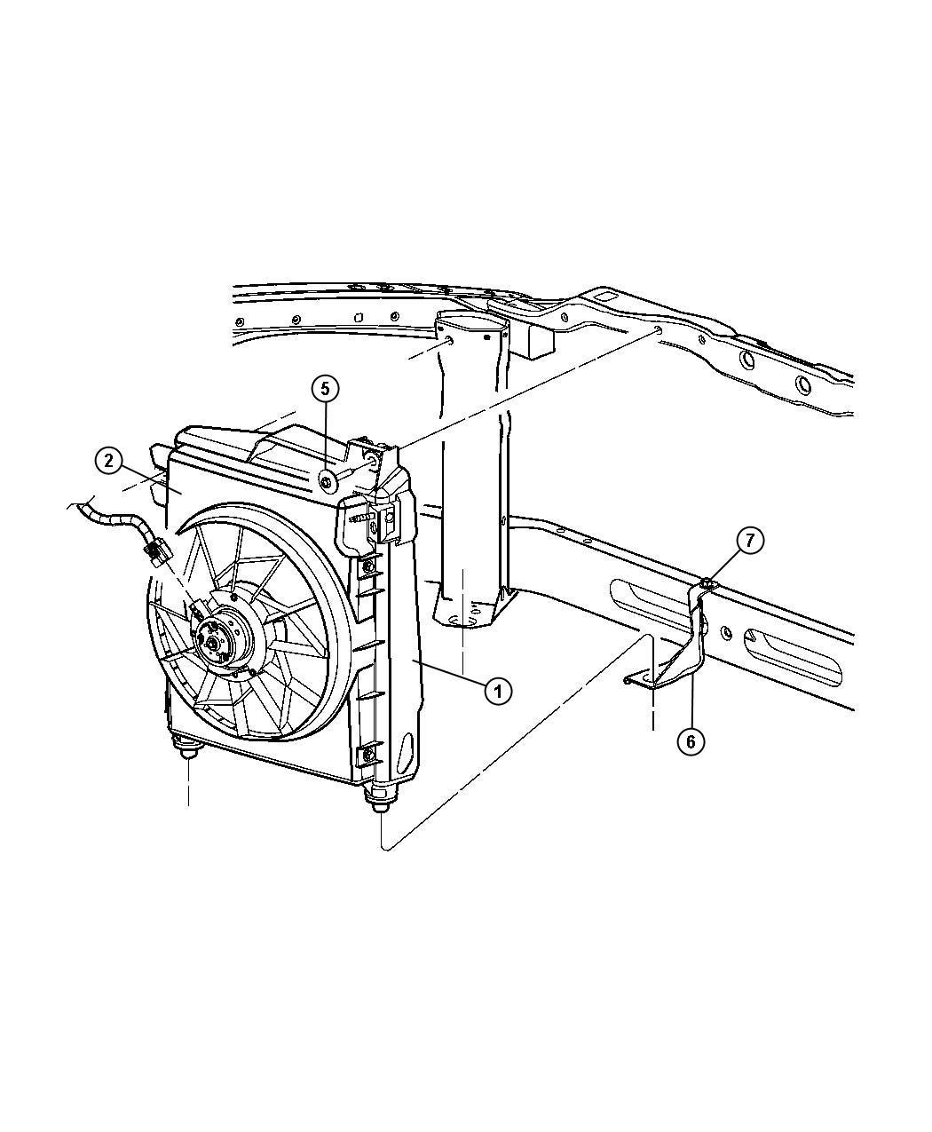 Mopar Performance 68004163AB MOPAR Fan Modul Condense