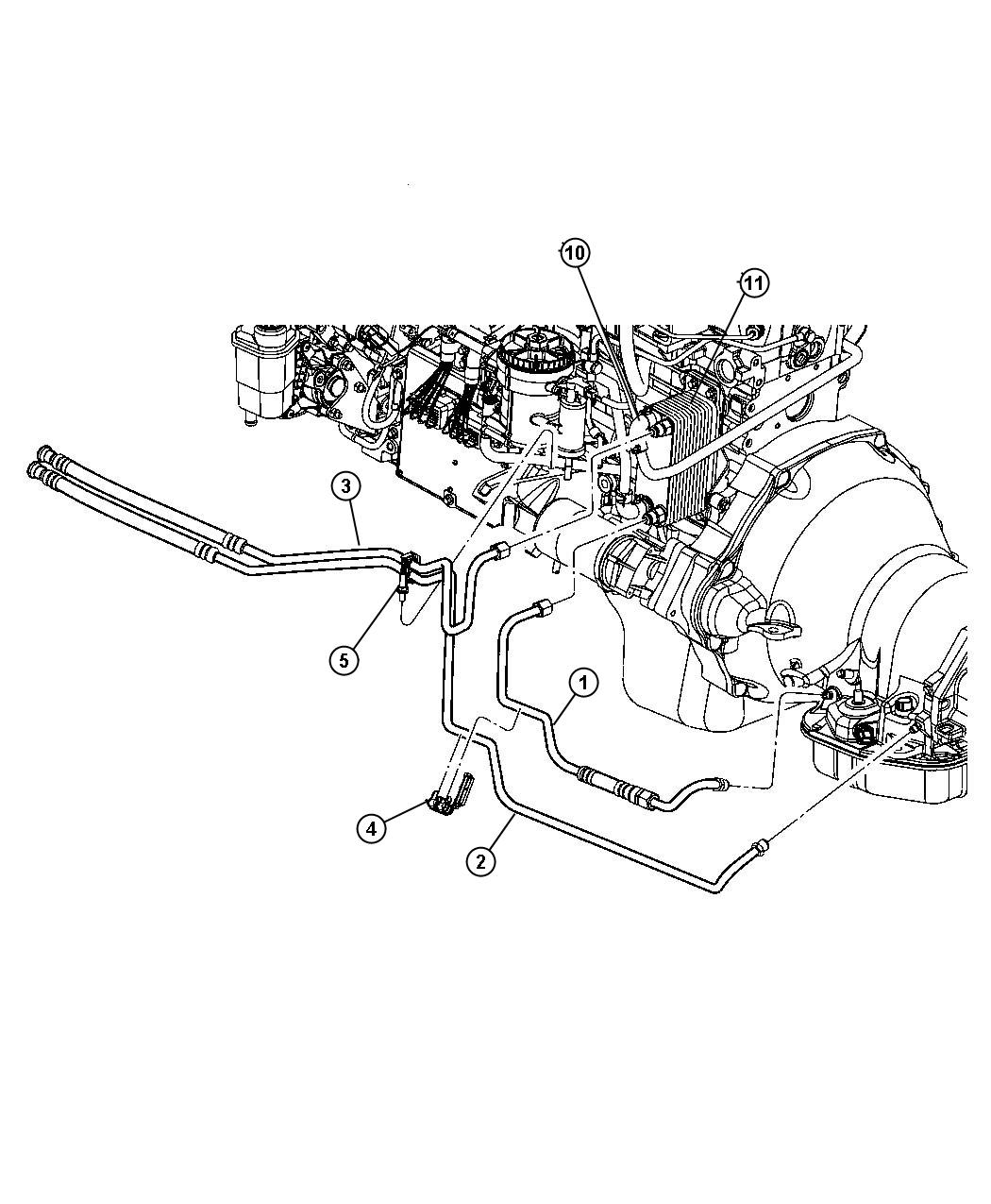Mopar Performance 52028922AL MOPAR Hose Oil Cooler Pr