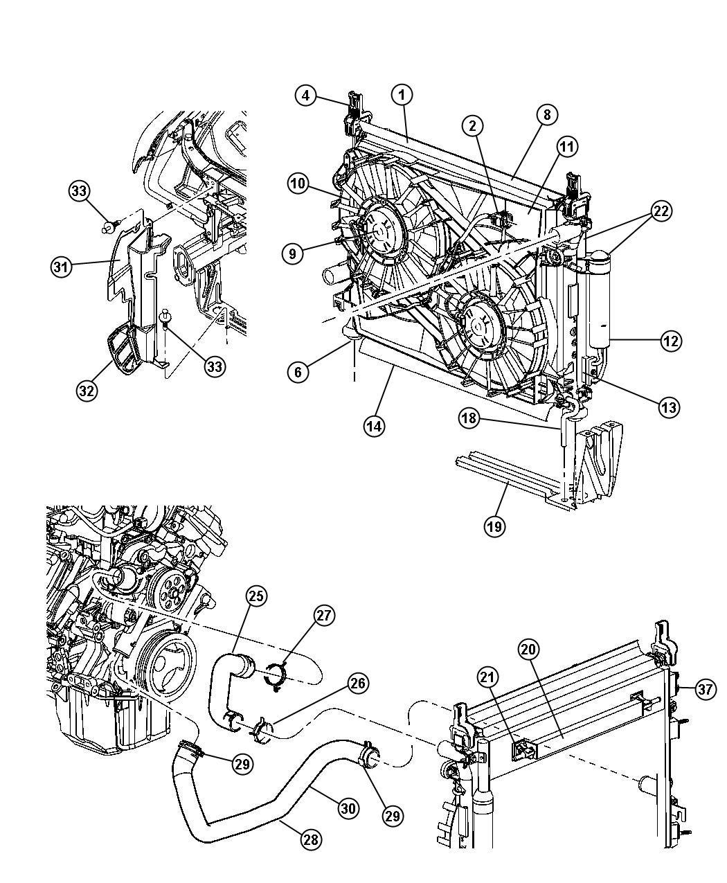 Mopar Performance 55038144AA MOPAR Hose Radiator Inle