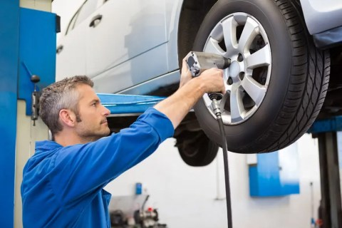 Fitting new tyres in Ilkeston