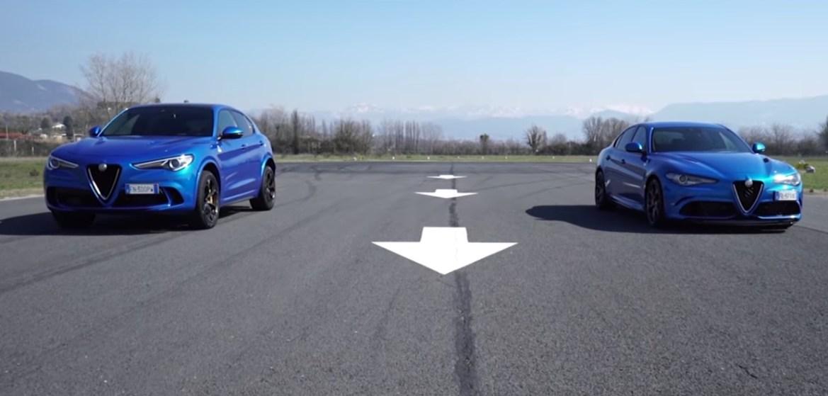 Je li brži Alfa Romeo Giulia QV ili Alfa Romeo Stelvio QV?