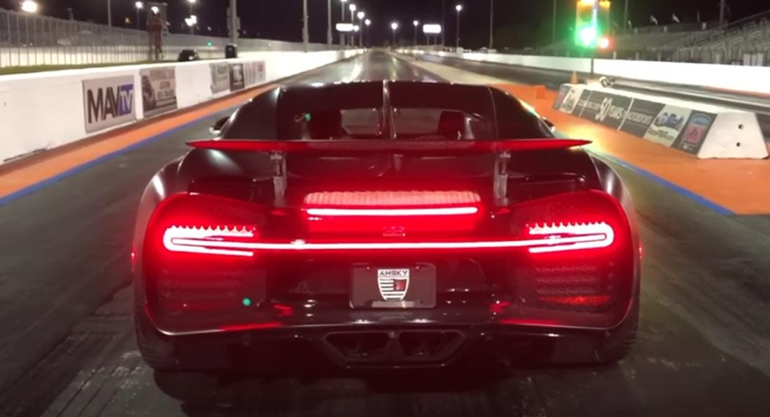 Ovako Bugatti Chiron prelazi 402 metra za manje od deset sekundi