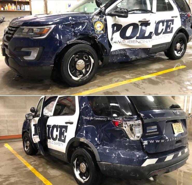 Video: Šleperom prošao kroz crveno i pomeo policijski SUV