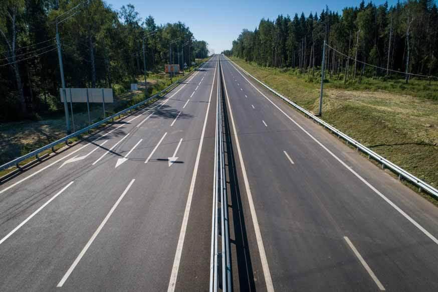 Новый участок Центральной кольцевой дороги открыт для движения.  Две трети трассы будут сданы в эксплуатацию до конца года