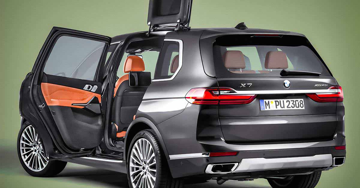 BMW запатентовала очень странные двери.  Они одновременно поднимаются и скользят