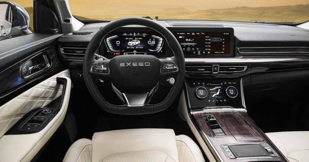 Chery показала интерьер большого кроссовера Exeed VX для России - Motor