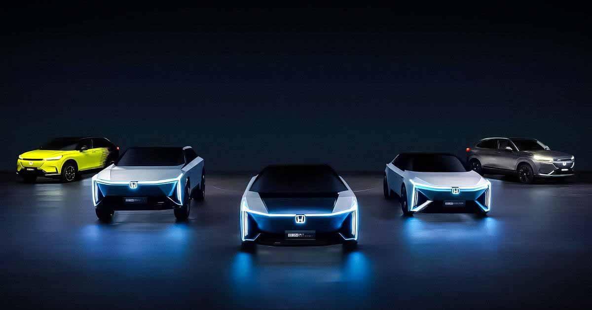 Honda представила пять электромобилей, которые поступят в продажу в течение пяти лет