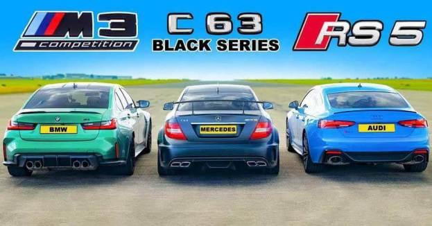новый BMW M3 против Mercedes-Benz C63 AMG и Audi RS5 - Мотор