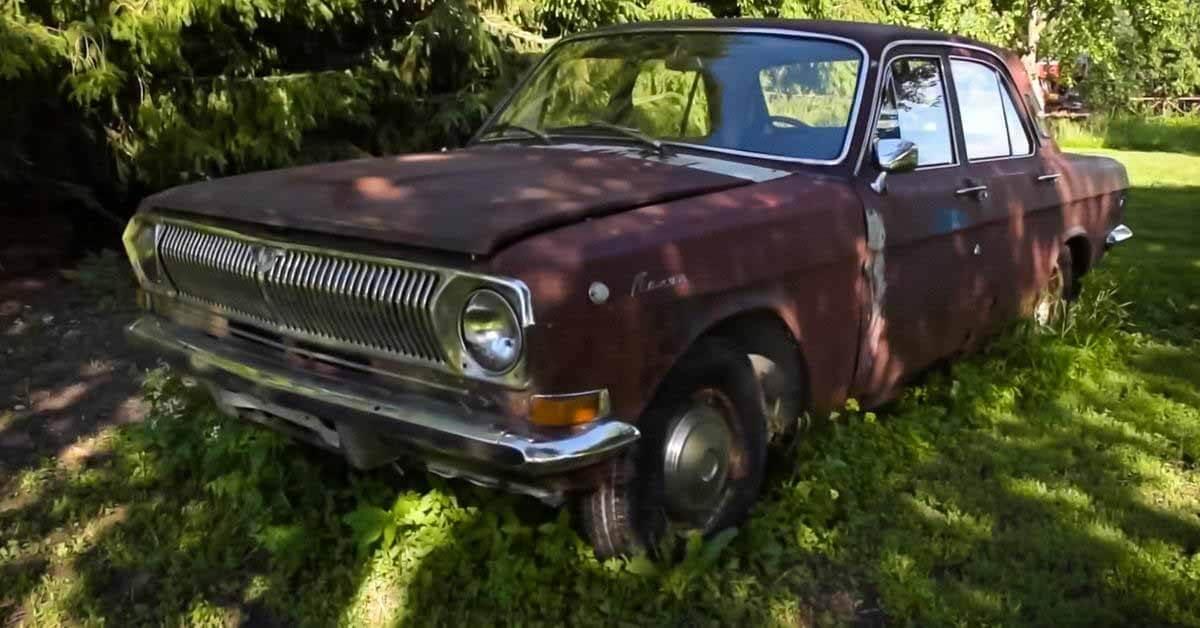 Американцы прозвали «Русский Кадиллак» старой ржавой «Волгой», которая простояла в гараже 16 лет.