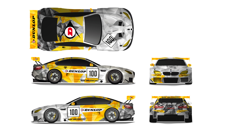 BMW M6 GT3 Dunlop Art Car