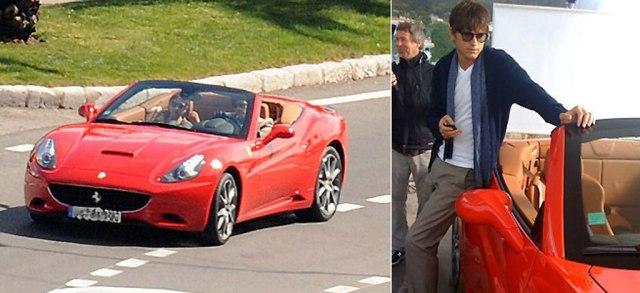 Ashton Kutcher Ferrari
