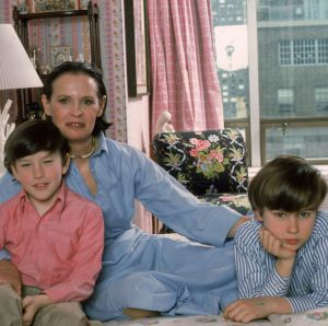 Christopher Stokowski with his mum and brother
