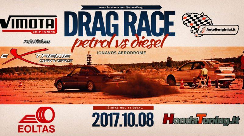 Drag race petrol vs diesel