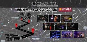 Orientacinės automobilių varžybos Kaune CRAZY TRIP 2018-03-02