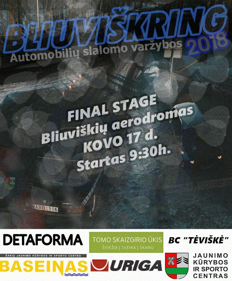 """Automobilių Slalomas """"Bliuviškring 2k18"""" 4/4 Final Stage"""