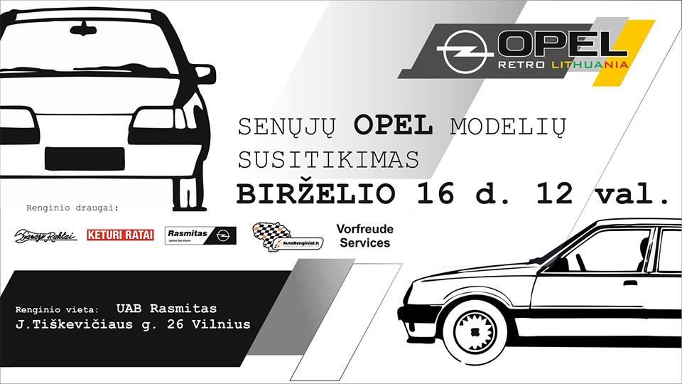 Senųjų Opel modelių susitikimas 2018