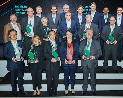 Brembo receives the Daimler Supplier Award in sustainability