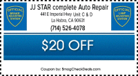 $31.75 Smog Test with Smog Coupon La Habra