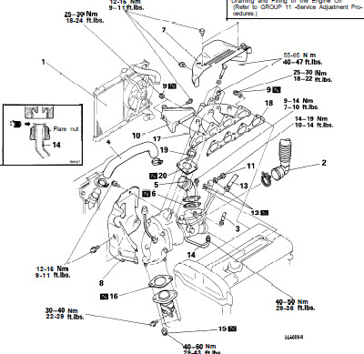 1999 Mitsubishi 2 4 Engine Diagram Service Manual, 1999
