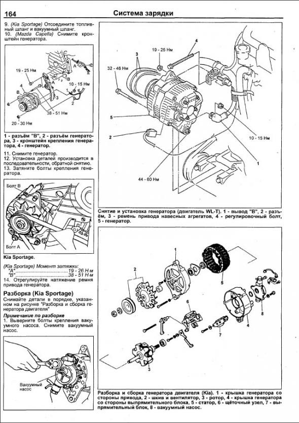 Mazda Двигатели R2, Rf (Mzr-Cd), Wl, Wl-T Устройство