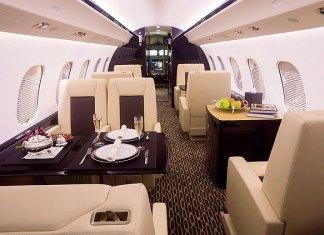 private jet dinner