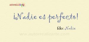 Dejar de ser perfeccionista