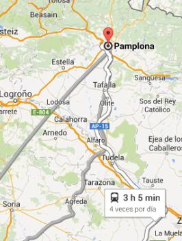 Ruta a Pamplona