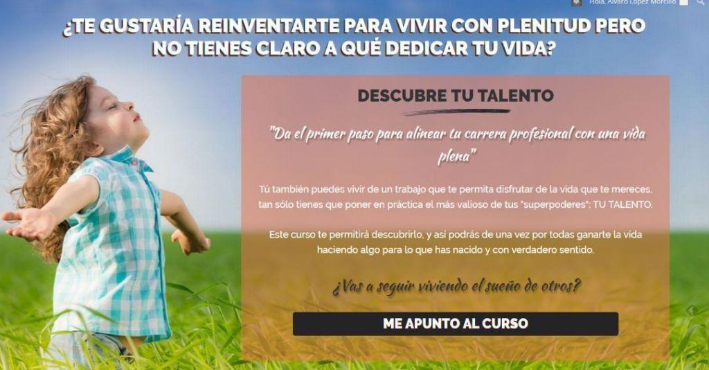 Descubre tu talento page
