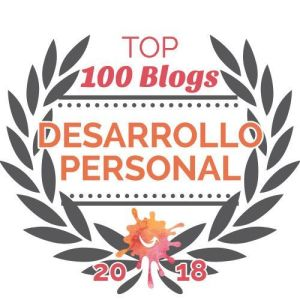 Distintivo Top 100 blogs de desarrollo personal