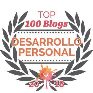 Distintivo Top 100 blogs de desarrollo personal