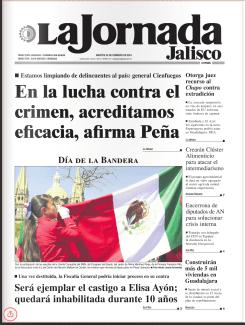 Una portada complaciente para el régimen de Peña Nieto.