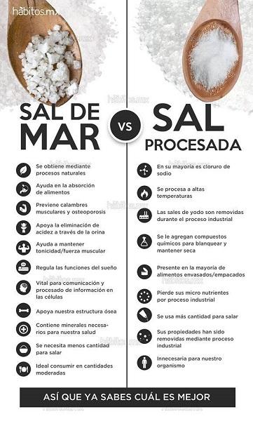 Diferencias entre sal y sal marina  Autosanacin y