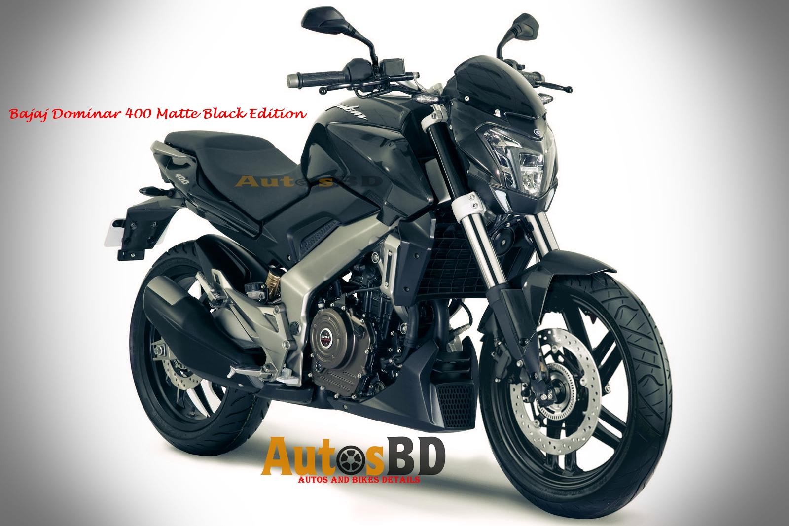 Bajaj Dominar 400 Matte Black Edition Motorcycle Specification