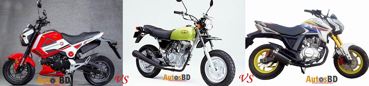 Comparison Motrac M3 vs Honda Ape 50 vs Lifan KP Mini