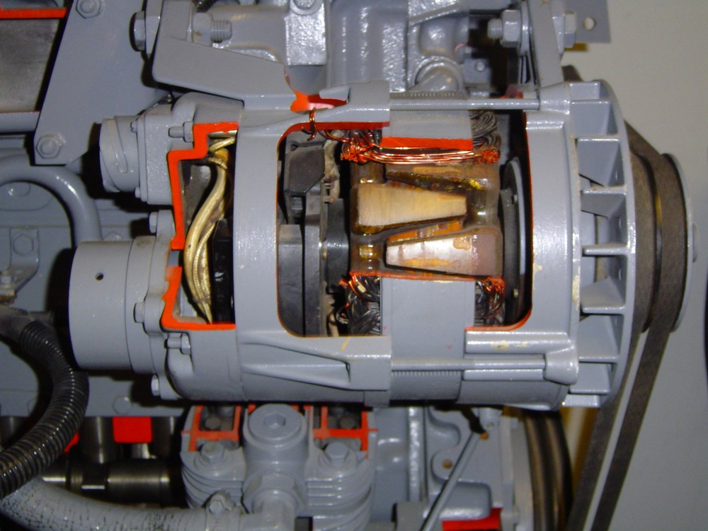 medium resolution of the alternator is a major component of the electrical system working to generate power to charge the battery and supply power to the various electrical