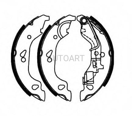 Szczęki hamulcowe 180X32 FIAT Punto II AP07690#GS8687
