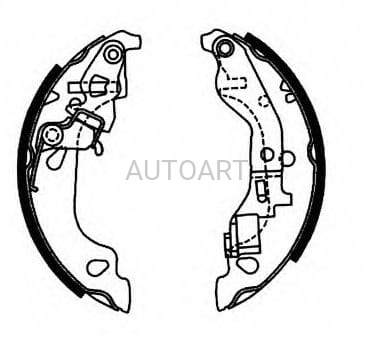 Szczęki hamulcowe 180X32 FIAT Punto/Van 1.2 AP07690