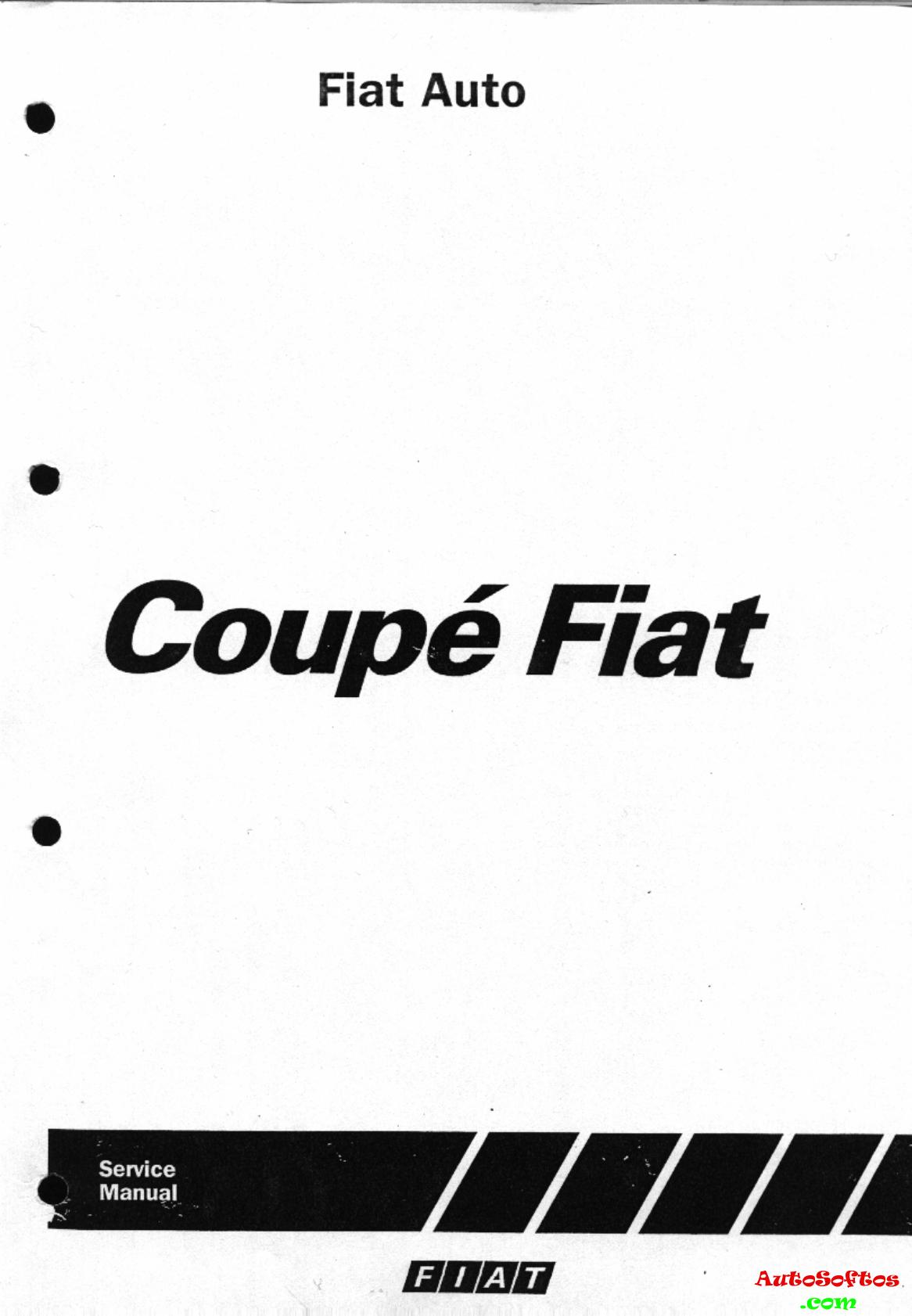 Fiat Coupe Workshop Manual 1995 1995, PDF Скачать