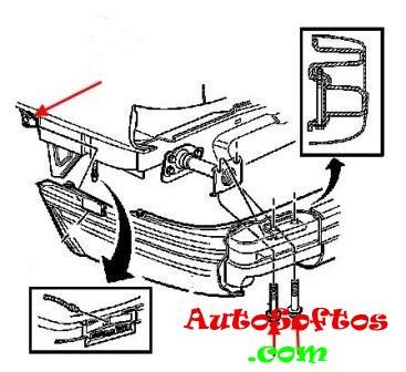 Как снять передний и задний бампер Cadillac Eldorado (1992