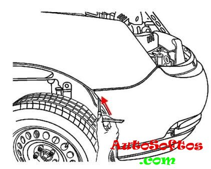 Как снять передний и задний бампер Chevrolet Malibu (2004