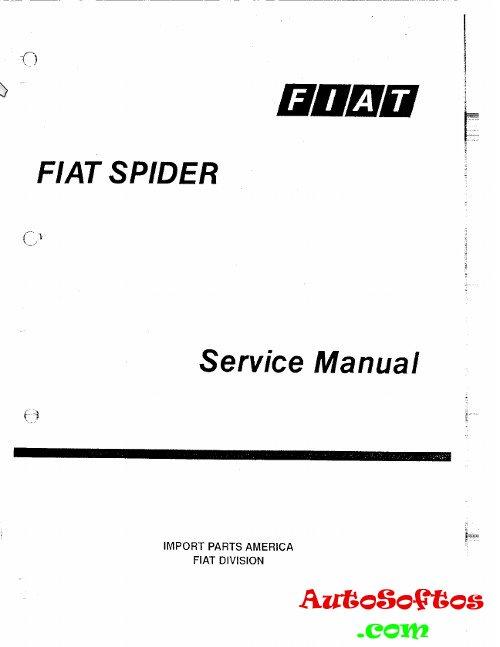 Service Manual Fiat 124 Spider 1975-1982 г. » AutoSoftos