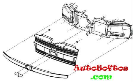 Как снять передний и задний бампер Chevrolet TrailBlazer