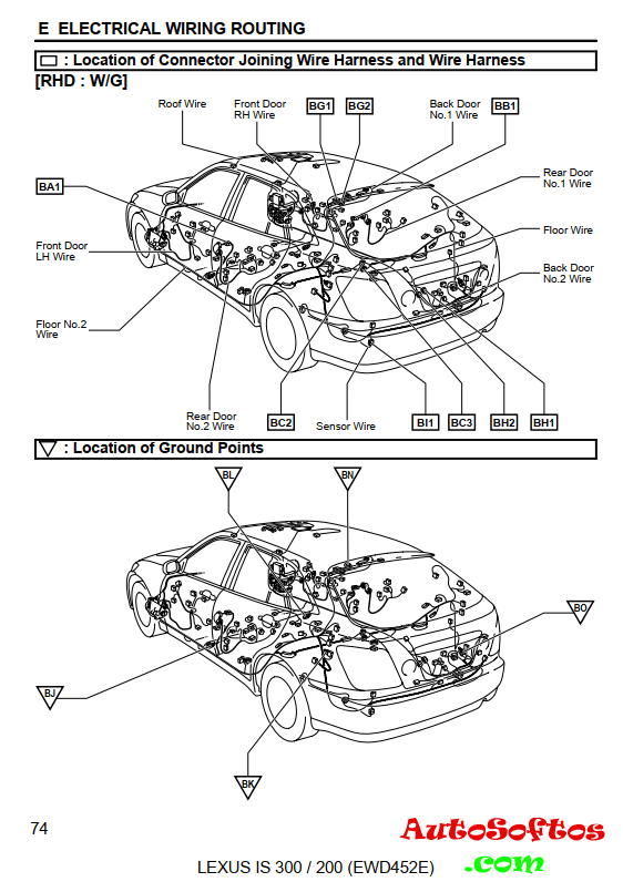 Service Manual Lexus IS200 2002 г. » AutoSoftos.com