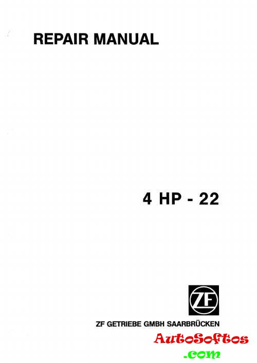 Repair Manual КПП ZF 4 HP-22 » AutoSoftos.com