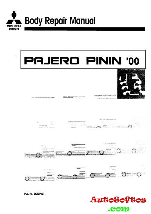 Body Repair Manual Mitsubishi Pajero Pinin 2000 г