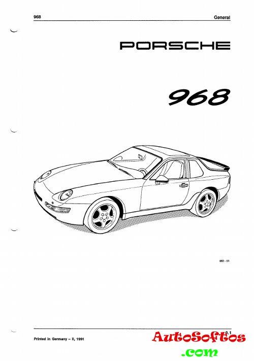 Workshop Manual Porsche 968 » AutoSoftos.com Автомобильный